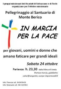 Monte Berico - Marcia per la pace 24-10-2015