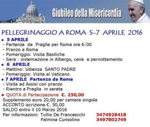 Giubileo_Pellegrinaggio_Roma_5-7 aprile 2016